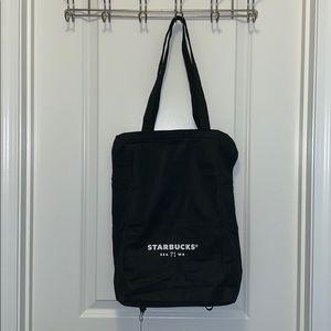 Starbucks reusable eco friendly black tote bag